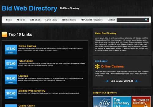 Black Pearl PHPLinkBid Template