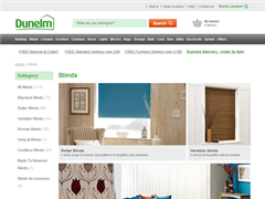 Dunelm Mill - Roller Blinds