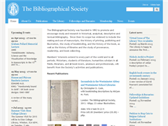 The Bibliographical Society