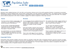 Population Index