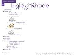 Ingle & Rhode : Ethical Diamond Jewellery