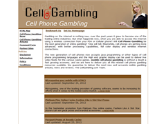 Cell Phone Gambling