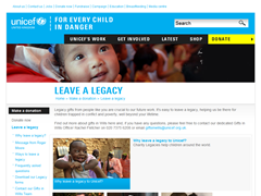 Unicef UK Leave a Legacy